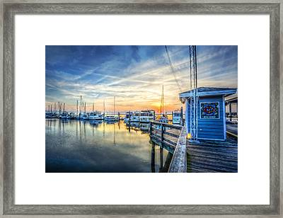 Jekyll Harbor Framed Print by Debra and Dave Vanderlaan