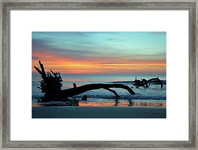Framed Print featuring the photograph Jekyll Island Sunrise 2016a by Bruce Gourley