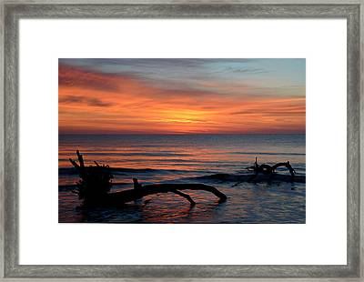 Framed Print featuring the photograph Jekyll Island Sunrise 2016c by Bruce Gourley