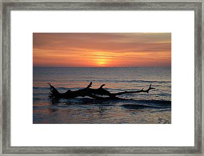 Framed Print featuring the photograph Jekyll Island Sunrise 2016d by Bruce Gourley