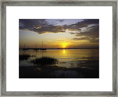 Jekyll Island Sunset Framed Print