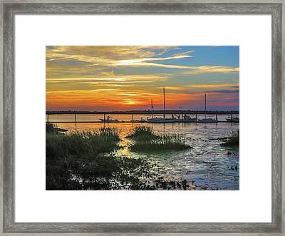 Jekyll Island Sunset Framed Print