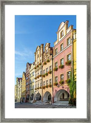 Jelenia Gora Baroque Tenement Houses With Arcades Framed Print