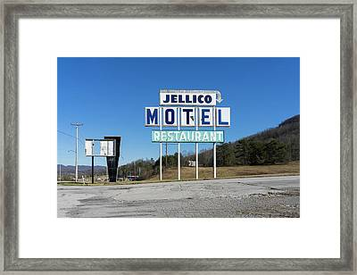 Jellico Motel Framed Print