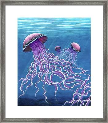 Jellies 2 Framed Print by Rebecca Parker