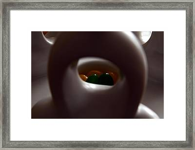 Jelly Bean Buddha Framed Print