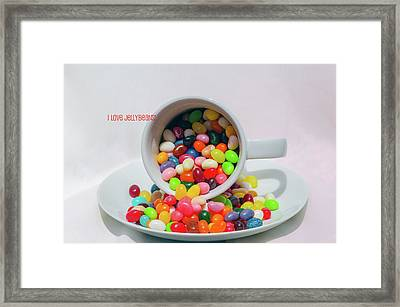 Framed Print featuring the photograph Jelly Beans by Carolyn Dalessandro