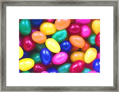 Jelly Beans Framed Print by Terry DeLuco