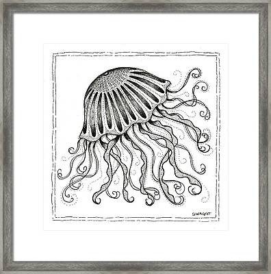 Jelly Fish Framed Print by Stephanie Troxell