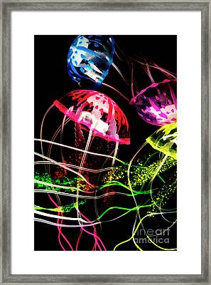 Jelly Fish Trails Framed Print