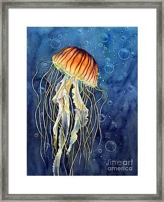 Jellyfish Framed Print by Hailey E Herrera