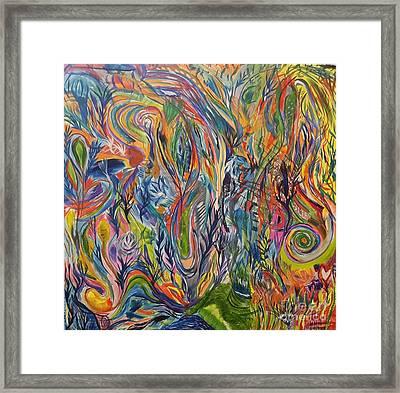 Jellyfish In The Sky Framed Print