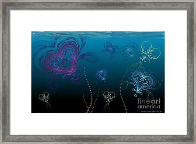 Jellyfish Love Framed Print by Sandra Bauser Digital Art
