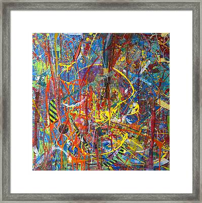 Jellyfish Rebellion Framed Print by Robert Anderson