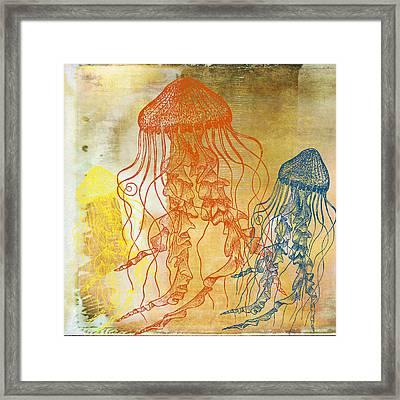 Jellyfish School V3 Framed Print by Brandi Fitzgerald