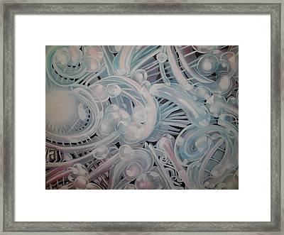 Framed Print featuring the painting Jellyfish by Steven Holder