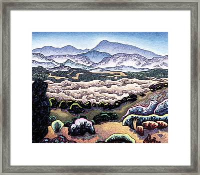 Jemez Mountains Framed Print by Dale Beckman