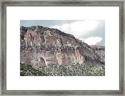 Jemez Mountains Desert Countryside Framed Print by Andrea Hazel Ihlefeld