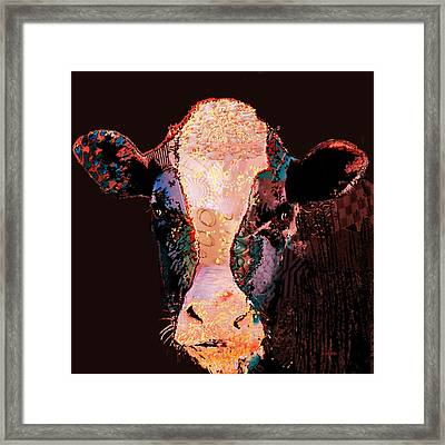 Jemima The Cow Framed Print