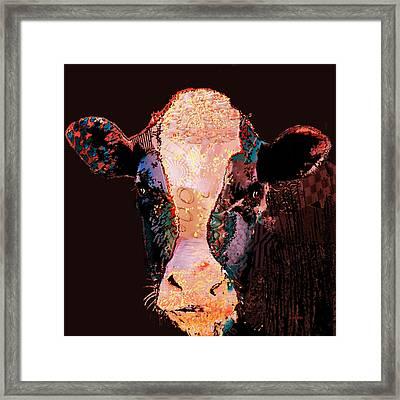 Jemima The Cow Framed Print by Marlene Watson