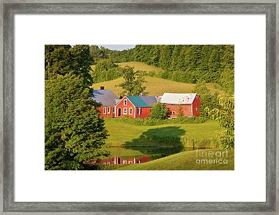 Framed Print featuring the photograph Jenne Farm Reflection by Susan Cole Kelly