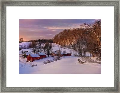 Jenne Farm Winter Scenic Framed Print by Thomas Schoeller