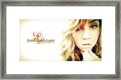 Jennette Mccurdy - Christmas Gem Framed Print