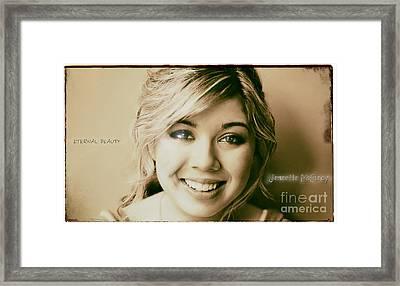 Jennette Mccurdy - Eternal Beauty Framed Print