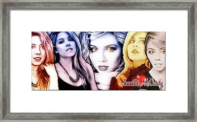Jennette Mccurdy - Phases Framed Print