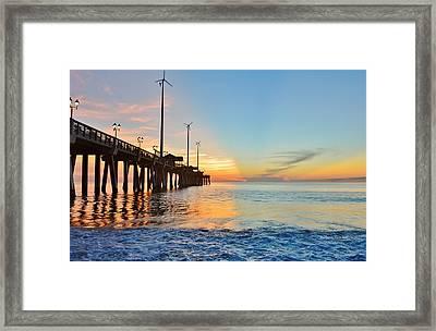 Jennette's Pier Aug. 16 Framed Print