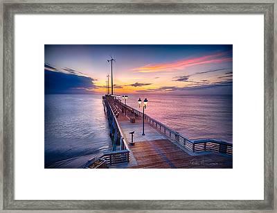 Jennette's Pier - Dawn 7080 Framed Print