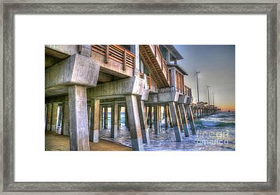 Jennette's Pier Framed Print
