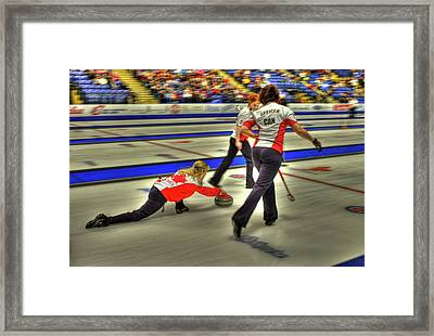 Jennifer Jones Throws Framed Print by Lawrence Christopher
