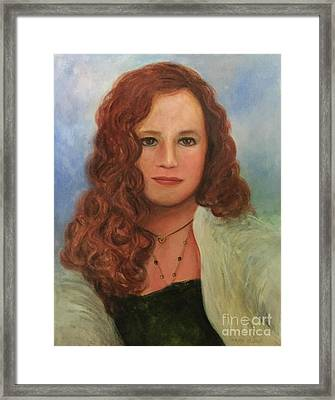 Framed Print featuring the painting Jennifer by Randol Burns