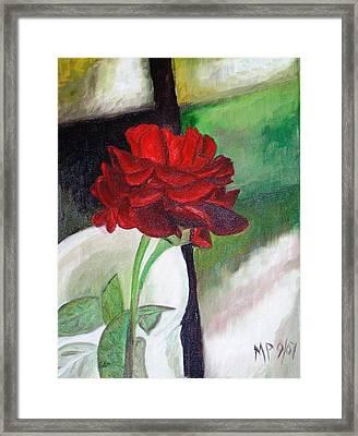 Jennifers Rose Framed Print by Madeleine Prochazka