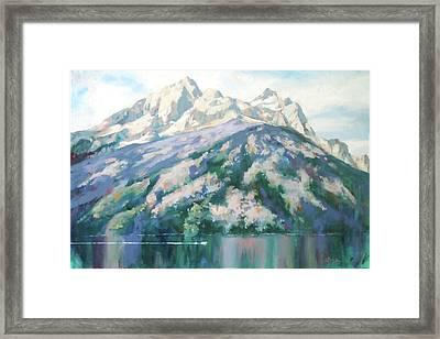 Jenny Lake Framed Print by Carol Strickland