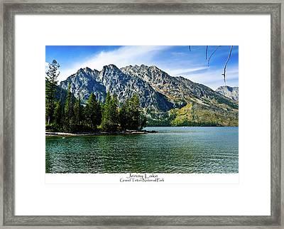 Jenny Lake Framed Print by Greg Norrell