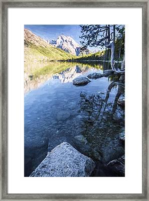 Jenny Lake In The Morning II Framed Print