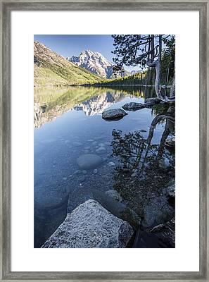 Jenny Lake In The Morning Framed Print