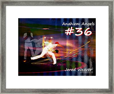 Jered Weaver Framed Print