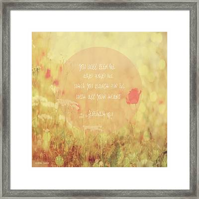 Jeremiah 29 Framed Print by Suzanne Carter