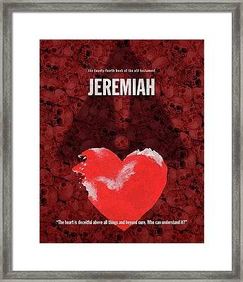 Jeremiah Books Of The Bible Series Old Testament Minimal Poster Art Number 24 Framed Print by Design Turnpike