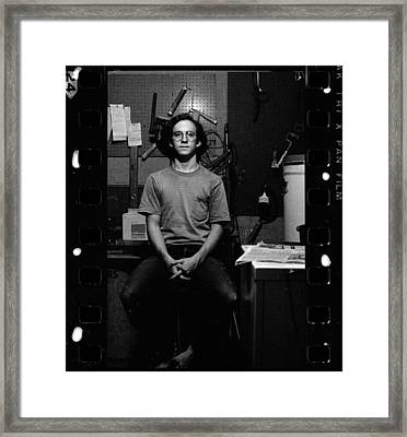 Self Portrait, In Darkroom, 1972 Framed Print