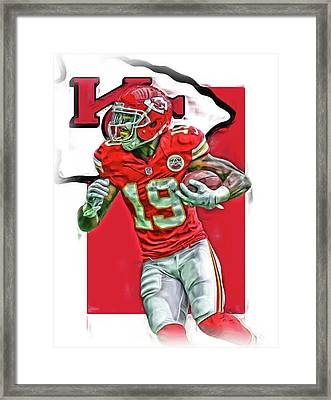 Jeremy Maclin Kansas City Chiefs Oil Art Framed Print