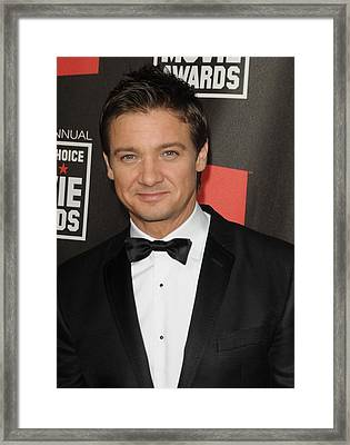 Jeremy Renner At Arrivals For 16th Framed Print by Everett