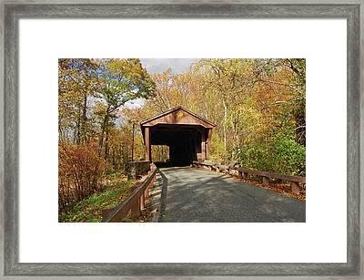 Jericho Covered Bridge Framed Print