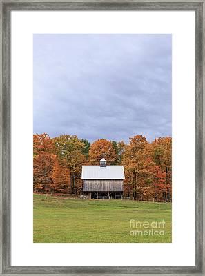 Jericho Hill Vermont Barn Framed Print by Edward Fielding