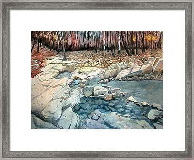 Jericho Rocks Framed Print by Jeff Atnip