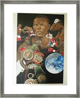 Jermain Taylor Montage Framed Print by Angelo Thomas