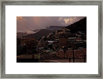 Jerome On The Edge Of Sunrise Framed Print